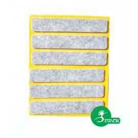 Podkładki filcowe prostokąt 16x92 mm